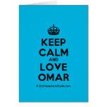 [Crown] keep calm and love omar  Cards