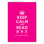 [Crown] keep calm and read p.y.t  Cards