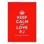 [Crown] keep calm and love pj  Cards