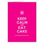 [Cupcake] keep calm and eat cake  Cards