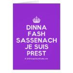 [Crown] dinna fash sassenach je suis prest  Cards