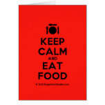 [Cutlery and plate] keep calm and eat food  Cards