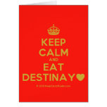 [Crown] keep calm and eat destinay♥  Cards
