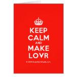 [Crown] keep calm and make lovr  Cards