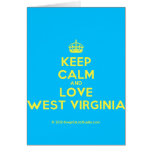 [Crown] keep calm and love west virginia  Cards