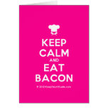 [Chef hat] keep calm and eat bacon  Cards