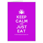 [Cutlery and plate] keep calm and just eat  Cards
