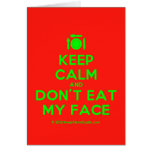[Cutlery and plate] keep calm and don't eat my face  Cards