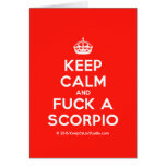 [Crown] keep calm and fuck a scorpio  Cards