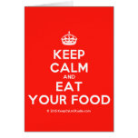 [Crown] keep calm and eat your food  Cards