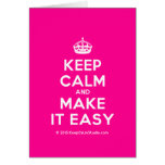 [Crown] keep calm and make it easy  Cards