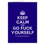 [Crown] keep calm and go fuck yourself  Cards