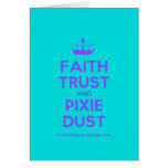 [Knitting crown] faith trust and pixie dust  Cards
