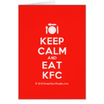 [Cutlery and plate] keep calm and eat kfc  Cards