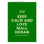 [UK Flag] keep calm and love niall horan  Cards