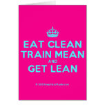 [Crown] eat clean train mean and get lean  Cards