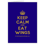 [Crown] keep calm and eat wings  Cards