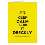 [UK Flag] keep calm i'll do it dreckly  Cards