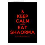 [Campfire] keep calm and eat shaorma  Cards