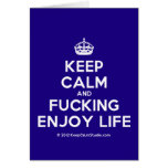[Crown] keep calm and fucking enjoy life  Cards