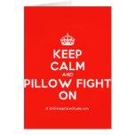[Crown] keep calm and pillow fight on  Cards