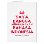 [Crown] saya bangga menggunakan bahasa indonesia  Cards