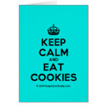 [Crown] keep calm and eat cookies  Cards