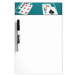 Cards and chips on betting table Dry-Erase board