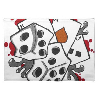 Cards and Dice Placemat
