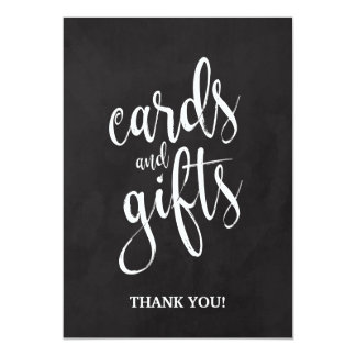 Cards and Gifts Affordable Chalkboard Sign