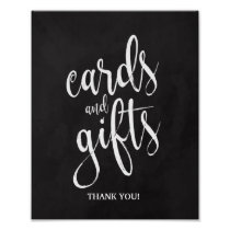 Cards and Gifts Chalkcoard 8x10 Wedding Sign