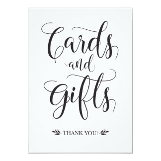 Cards and Gifts Modern Wedding Sign