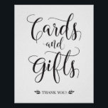 "Cards and Gifts Modern Wedding Sign<br><div class=""desc"">This calligraphy cards and gifts sign is the perfect addition to your modern wedding ceremony/reception!</div>"