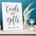 "Cards and Gifts Modern Wedding Sign Plaque<br><div class=""desc"">This calligraphy cards and gifts sign is the perfect addition to your modern wedding ceremony/reception!</div>"
