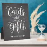 """Cards and Gifts Rustic Wedding Sign Plaque<br><div class=""""desc"""">This calligraphy cards and gifts sign is the perfect addition to your rustic,  vintage,  or country themed wedding ceremony/reception!</div>"""