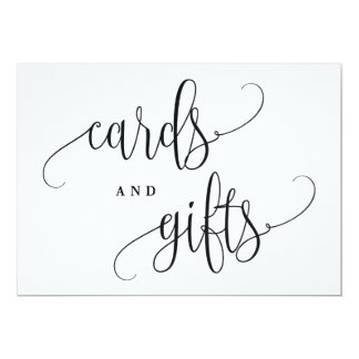 Cards And Gifts Sign - Lovely Calligraphy