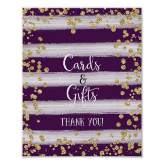Cards and Gifts Wedding Poster Print
