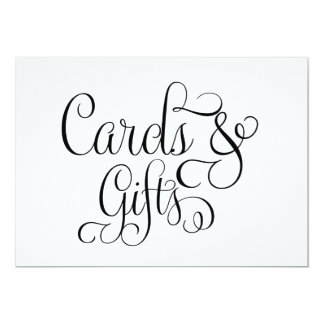 Cards and Gifts Wedding Sign