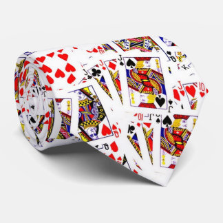 cards, cards neck tie