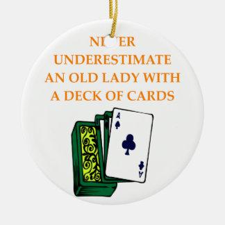 CARDS CERAMIC ORNAMENT