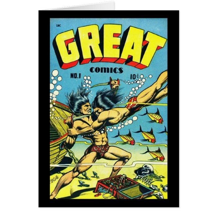 Vintage Book Cover Postcards : Cards comic book covers vintage zazzle