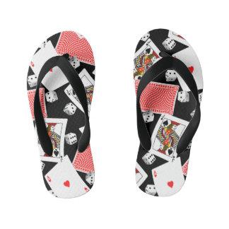 Cards & dice kid's flip flops