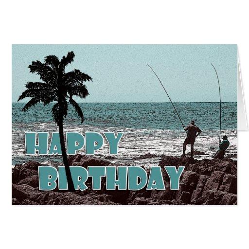 Cards - Fishing & anglers birthday