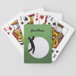 "Cards for the Golfer, personalize with name<br><div class=""desc"">Your name (or a friend&#39;s) on this card showing a large golf ball and silhouette of a golfer. Change the type font,  size,  color and position if desired. Makes a great gift to yourself or someone else.</div>"
