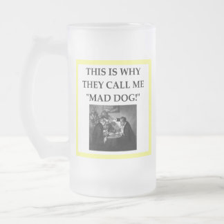 cards frosted glass beer mug