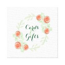 Cards & Gifts Sign - Floral Rose Border