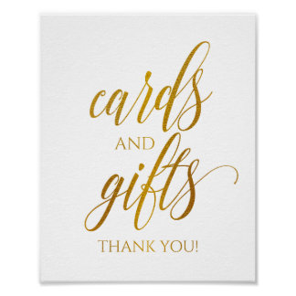 Cards & Gifts Sign Luxe Typography (Faux Gold Foil