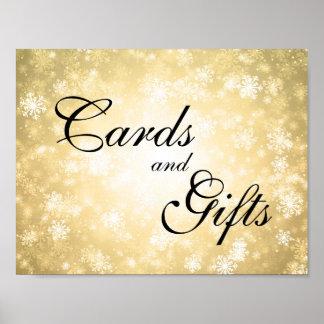 Cards & Gifts Wedding Sign Winter Wonderland Gold