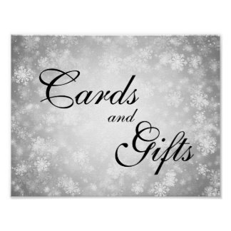 Cards & Gifts Wedding Winter Wonderland Silver Poster
