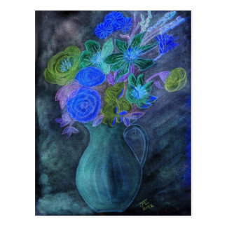 CARDS & NOTELETS - French Vase + Silk Flowers Post Card